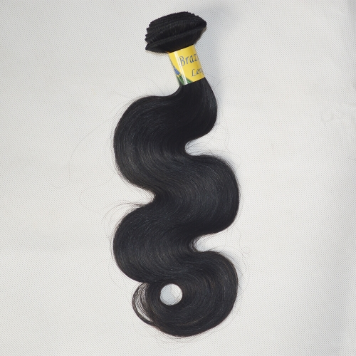 Short Hair For Promotion Brazilian Virgin Hair Weave Body Wave Natural Color 1 Bundle