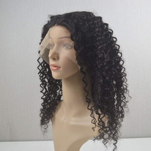 T Part Wigs 150% Density Brazilian Remy Hair Deep Wave Natural Color