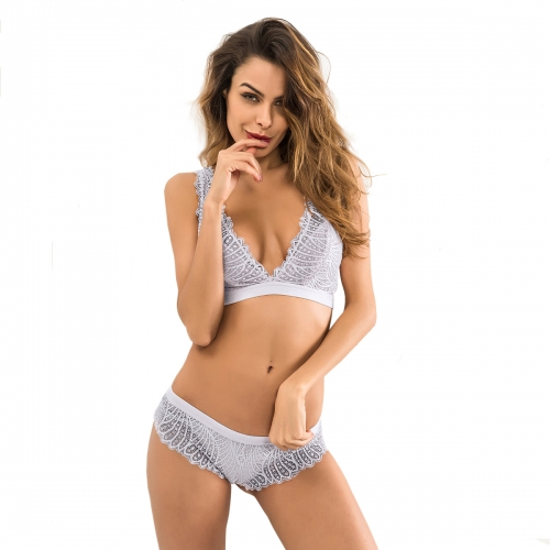 Women Lace Lingerie Sexy Bra and Panty Set 2 Piece Outfits