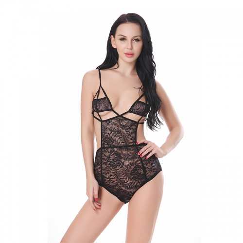 Women Lingerie One Piece Lace Bodysuit Sexy Teddy Babydoll