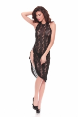 Women Sexy Robes Lace Sheer Long Dress See Through Nightgown Maxi Dresses