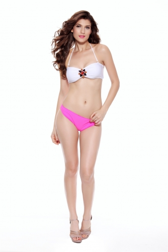 Women Diamond Buckle Push Up Bikini Sets Low Waist Bottom Bathing Suit 2 Piece Swimsuit