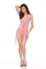 Women Sexy Robes Lace Tie Front Sheer Long Dress See Through Nightgown Maxi Dresses