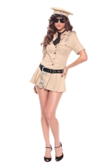 Sexy Female Cop Officer Uniform Constabulary Costume Halloween Adult Women Pol Cosplay Fancy Dress