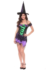 Witch Costumes Sexy Halloween Adult Women Queen Carnival Party Cosplay Fancy Dress