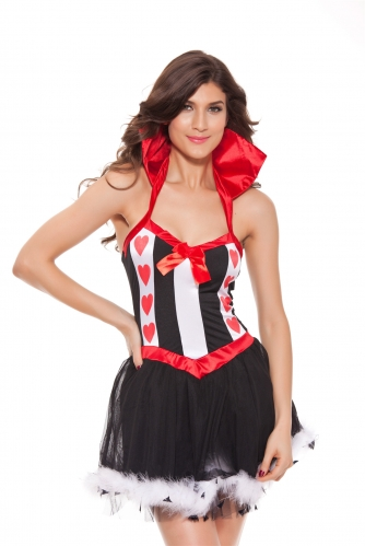 Alice In Wonderland party sexy red Queen of Hearts costumes Women's fantasias dress movie cosplay halloween wholesale