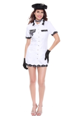 Sexy Air Force Costume Female Cop Officer Uniform Constabulary Halloween Adult Polc Cosplay Fancy Dress