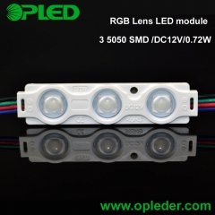 3 chip 5050 RGB LED module 0.72W