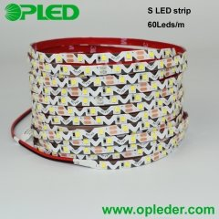 6mm width S LED strip 2835 IP65