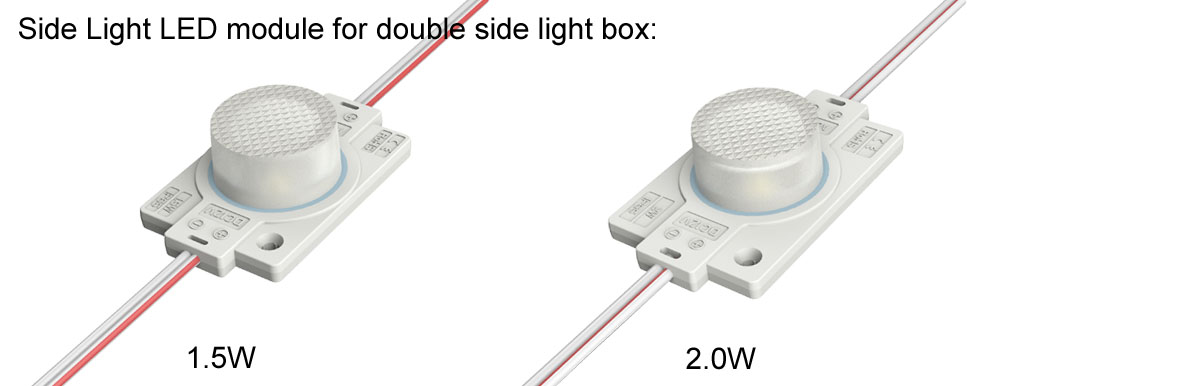 Side LED module for double Side light box