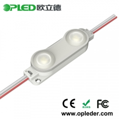 2 Chip 2835 lens led module IP67 12v 1.0w