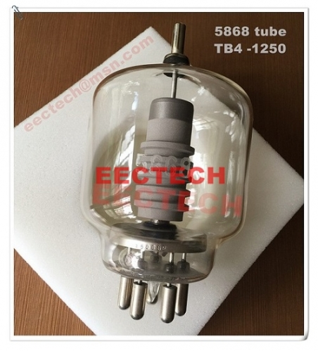 5868 vacuum electron glass tube, equivalent to TB4/1250 triode
