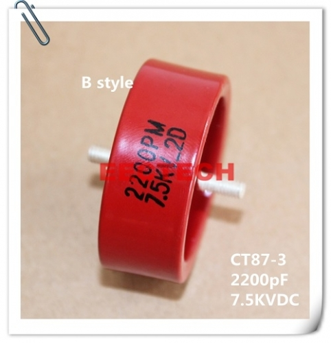 CT87-3, 2200PF, 7.5KVDC, ceramic capacitor