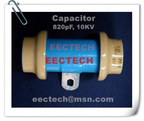 820PF/10KV feed through capacitor, it is different from type 04 capacitor type04, 1000pf, 10kv