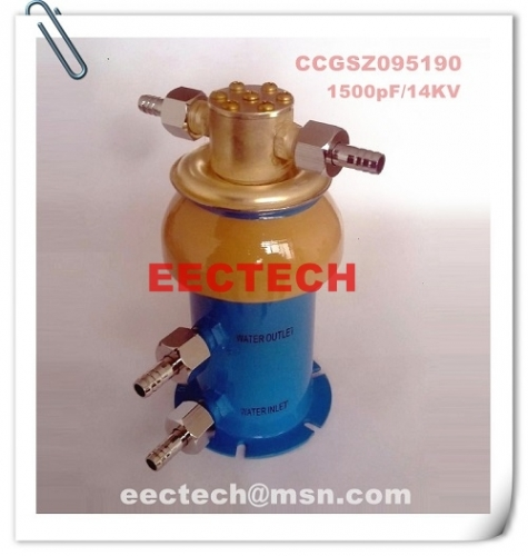 Water cooled capacitor (WCC) 095190, 1500pF/14KV, equal to CCGSZ095190