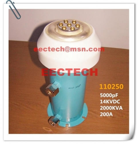 Water cooled capacitor (WCC) 110250, 5000pF/14KV, equal to TWXF110250, CCGS110250