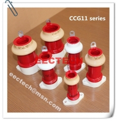 CCG11-4, 220pF, 3KVDC, pot type ceramic RF capacitor