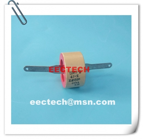 CCG61-2, 39PF, 47PF, or 56PF, 8KVDC, barrel style ceramic capacitor