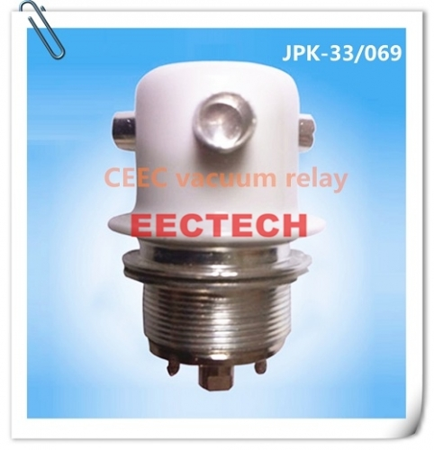 High voltage switching relay JJPK-33/069, 24 VDC ceramic vacuum relay