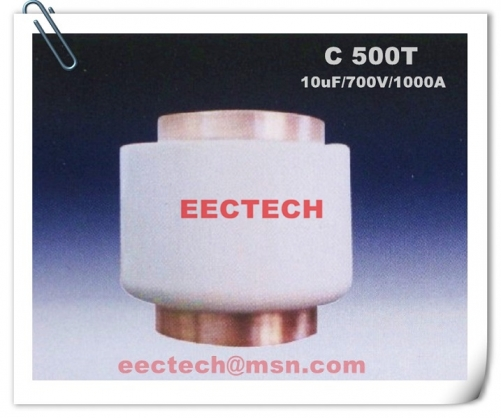 C 500 T, 10uF, 700V, 1000A solid state water cooling film capacitor 10.0uF C500T equivalent