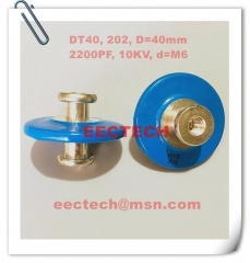 DT40, 202, high voltage small button capacitor, 10KV/2200PF