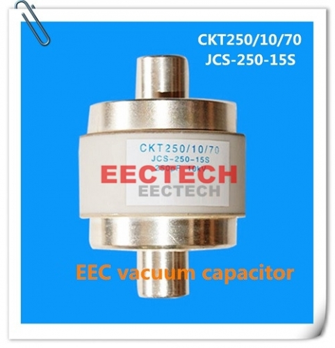 CKT250/10/70 fixed vacuum capacitor, equivalent to JCS-250-15S