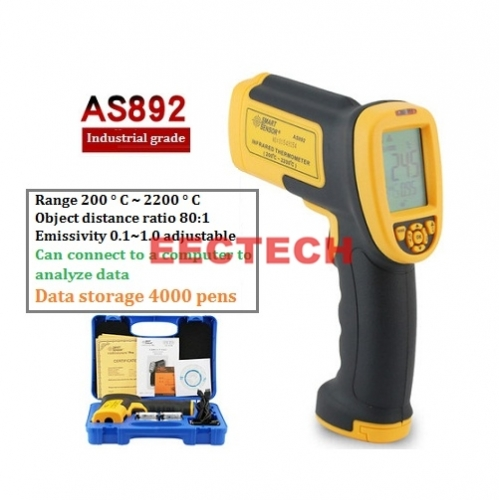 Infrared Thermometer Industrial Infrared Thermometer Oil Temperature Thermometer High Precision Thermometer Electronic Thermometer 200℃~~2200℃