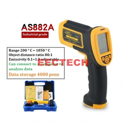 Xima AS882A infrared thermometer temperature measuring gun industry 1850 ° C
