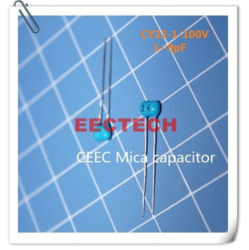 CY22-1-100V-3.6 silver coated mica capacitor from Beijing EECTECH
