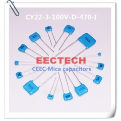 CY22-3-100V-D-470-I mica capacitor from Beijing EECTECH