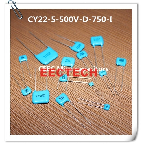 CY22-5-500V-D-750-I silver coated mica capacitor from Beijing EECTECH