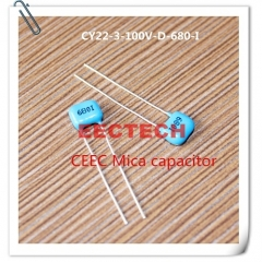 CY22-3-100V-D-680-I mica capacitor from Beijing EECTECH