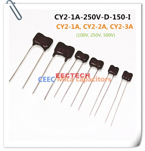 CY2-1A-250V-D-150-I mica capacitor from Beijing EECTECH, CHINA mica capacitor