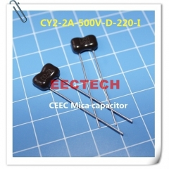 CY2-2A-500V-D-220-I mica capacitor from Beijing EECTECH