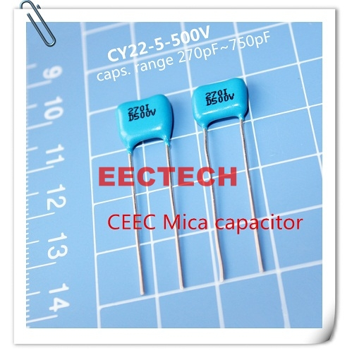 CY22-5-500V-D-270-I silver coated mica capacitor from Beijing EECTECH