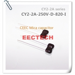 CY2-2A-250V-D-820-I mica capacitor from Beijing EECTECH