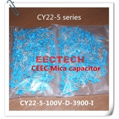 CY22-5-100V-D-3900-I mica capacitor from Beijing EECTECH
