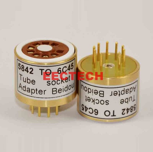 5842 TO 6C45 Tube Converter,convert socket (1 box=2 pcs)