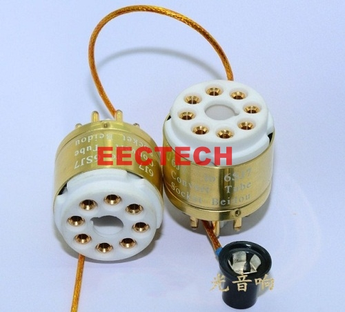 6J7 to 6SJ7 tube conversion base, special gold-plated