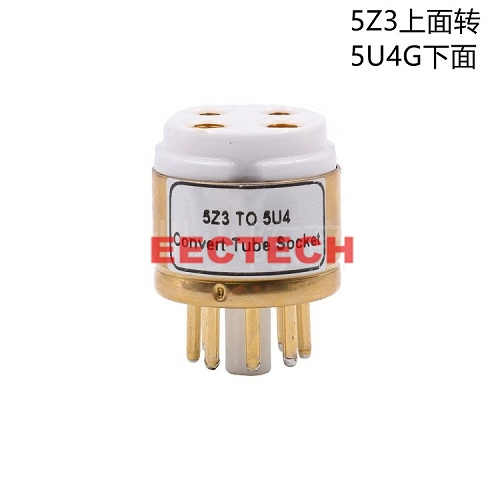 WE274A, 80, 5Z3 to 5U4G, 5Z4P, WE274B, rectifier, conversion plated seat tube,convert socket (1box=2 pcs)