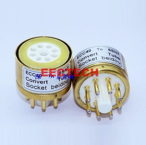 ECC40 to 6SN7 Tube Conversion Block,convert socket (1 box=2 pcs)