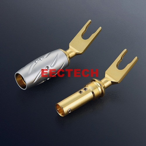 Gold-plated copper Y-type plug