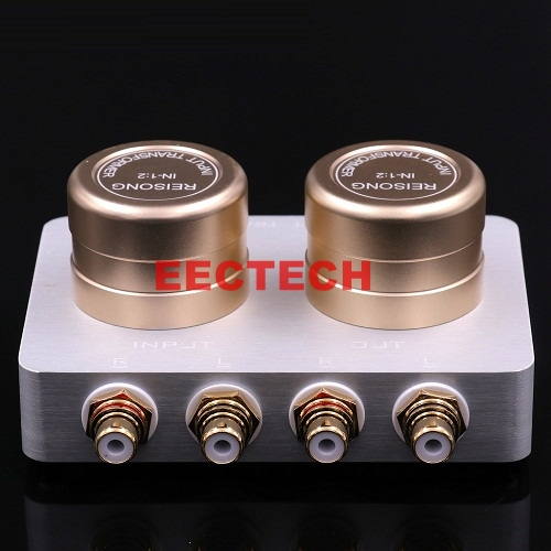 1:2 Audio Signal Step-up Transformer Preamp Passive Adapter For Hifi MP3 MP4 Player TV Cell Mobile Phone Tube AMP Sound Improve