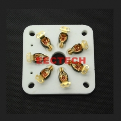 Generic Chassis Mount Gold plated 7pin Ceramic vacuum tube socket for 6C33/FU29/829B Vintage Audio Amplifier DIY