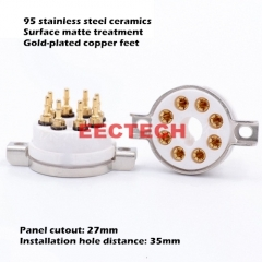 GZC8-T-G large 8-pin electronic tube base beryllium copper gold-plated, copy CMC eight-pin socket KT88 6SN7 KT66