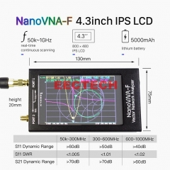 NanoVNA-F VNA SWR Meter VHF UHF Antenna Analyzer,Vector Network Analyzer Antenna Analyzer