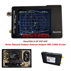 New 2.8 inch LCD Display NanoVNA-H HF VHF UHF Nano VNA Vector Network Analyzer Antenna Analyzer with Battery Case