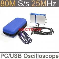 USB/PC Oscilloscope OSC802 series , Data logger,80MS/s Sampling Rate, 20MHz Bandwidth