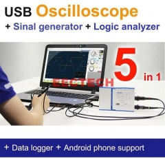 OSC482 series, Oscilloscope,Signal Generator,Logic Analyzer, 5 in 1, 50M S/s, 8~13 bit Resolution, Optional Modules