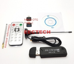 Upgraded version RTL2832U+R820T2 software radio SDR ADS-B FM1090M antenna SMA head